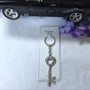 Crystal Collection Accessory Key Shaped Keychain